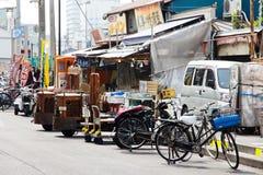 Тележка несущей на рынке Tsukiji Стоковое Фото