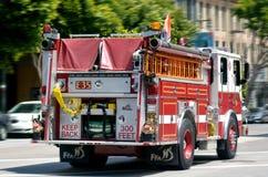 Тележка пожарной машины отделения пожарной охраны Сан-Франциско (SFFD) Стоковое Фото