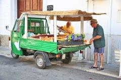 Тележка плодоовощ, Италия Стоковые Фото