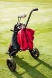 Тележка сумки гольфа Стоковое Изображение RF