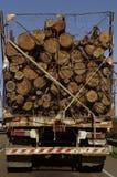 Тележка с стволами дерева Стоковые Фото