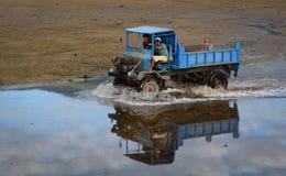Тележка управляя на песке в Nhatrang Стоковая Фотография