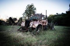 тележка фермы старая Стоковое Изображение