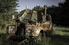 тележка фермы старая Стоковая Фотография