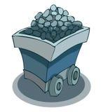 Тележка шахты руды, иллюстрация вектора иллюстрация вектора