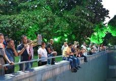 Телезрители концерта в международной ярмарке 2014 Izmir Стоковое фото RF