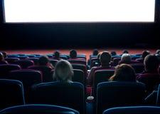 Телезрители на кино стоковые изображения
