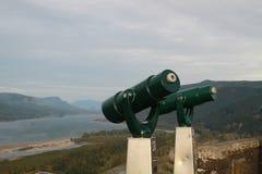Телескопы вдоль ущелья Колумбии Стоковое Изображение RF