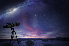 Телескоп в пустыне стоковые фотографии rf