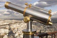 Телескоп на путешествии Eiffel Стоковые Изображения