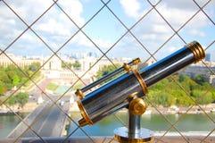 Телескоп на Эйфелева башне Стоковые Изображения RF