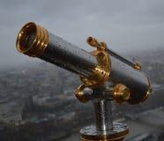 Телескоп на Eiffel стоковое фото rf