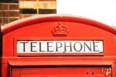 Телефонная будка крупного плана традиционная красная в Великобритании Стоковые Изображения RF