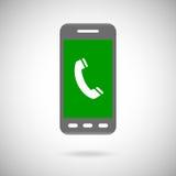 Телефонная трубка подписывает внутри символ значка телефона Плоское собрание дизайна Стоковые Фотографии RF