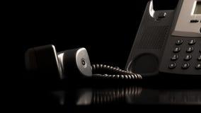 Телефонная трубка с крюка Стоковые Фото