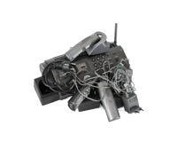 Телефоны радиотелеграф и модем стоковое фото