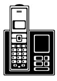 Телефон вектора бесшнуровой изолированный на белизне Стоковые Изображения