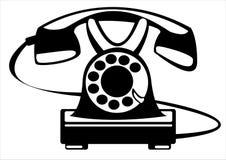 Телефон вектора ретро изолированный на белизне Стоковая Фотография