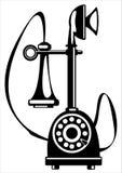 Телефон вектора ретро изолированный на белизне Стоковые Фото