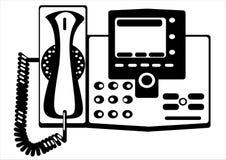Телефон вектора ретро изолированный на белизне Стоковые Изображения