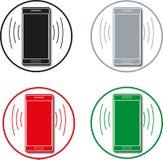 Телефон входящий и исходящий вызов сообщения иллюстрация штока