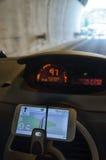 Телефон в автомобиле Стоковые Изображения