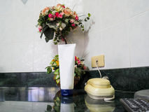 Телефон в ванной комнате Стоковое фото RF