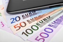 Телефон и евро Стоковая Фотография RF