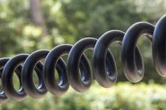 телефон кабеля с черной пропиткой спиральн Стоковые Изображения