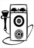 Телефон корабля вектора ретро изолированный на белизне Стоковое Изображение