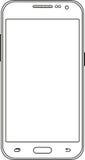 Телефон на белой предпосылке с линиями Стоковые Фотографии RF