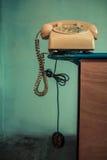 Телефон на перилах стоковая фотография