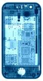 Телефон под рентгеновскими снимками Стоковая Фотография RF