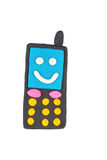 Телефон пластилина Стоковое фото RF