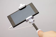 Телефон ручки Selfie пустой Стоковые Фотографии RF