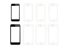 Телефон серии 6s плюс и 6s iPhone Яблока умный Стоковое Изображение RF