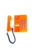 Телефон с белой предпосылкой Стоковые Фото