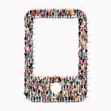Телефон формы людей Стоковые Фотографии RF