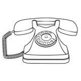 Телефон шаржа ретро роторный Стоковое Изображение RF
