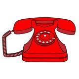 Телефон шаржа ретро роторный Стоковое фото RF