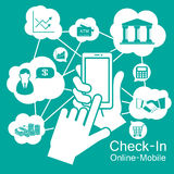 телефон экрана касания умный, мобильный бизнес Стоковое фото RF