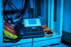 Телефон IP в комнате сети Стоковое Фото