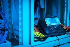 Телефон IP в комнате сети Стоковые Изображения