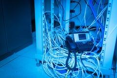 Телефон IP в комнате сети Стоковые Фотографии RF