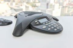 Телефон IP на белой таблице Стоковые Изображения