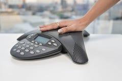 Телефон IP - прибор конференции Стоковые Изображения