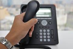 Телефон IP - телефон офиса Стоковая Фотография RF