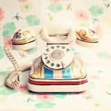 Телефон paintd руки Стоковые Изображения RF