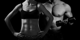 телохранителя Человек и женщина стоковое фото rf