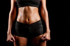 Тело женщины спорта Стоковое фото RF